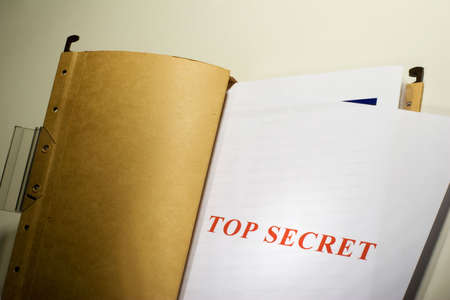 Folder with Top Secret documents Stock Photo - 1327345