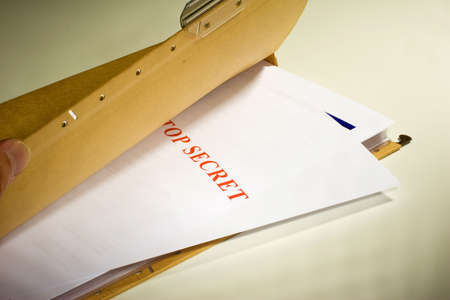 larceny: Folder with Top Secret documents Stock Photo