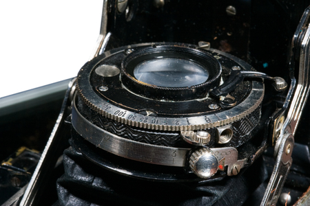 bellow: Ajuste de la velocidad de obturaci�n en una vieja c�mara con fuelle