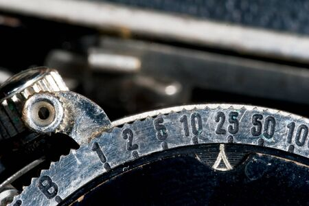 bellow: Velocidad de ajuste a una antigua c�mara de fuelle  Foto de archivo