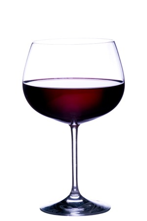 Glass of red wine on white background Stock Photo - 1490789