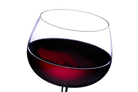 Glass of red wine on white background Stock Photo - 1490790