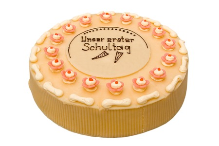 sinful: Cake for First day at school Stock Photo