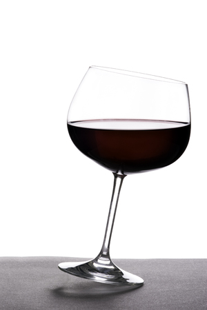 Glass of red wine on a table