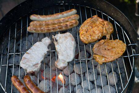 Barbecue in the garden Stock Photo - 2256136