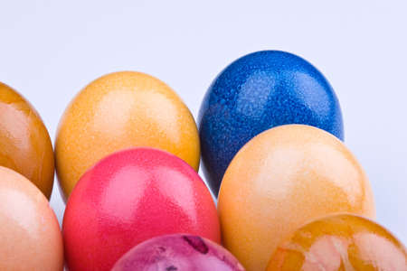 Colorful Easter egg on unique background photo