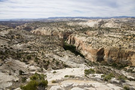 aloneness: Awe landscape - Grand Staircase-Escalante National Monument Stock Photo