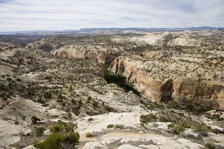 awe: Awe landscape - Grand Staircase-Escalante National Monument Stock Photo