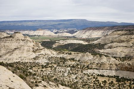 stratification: Awe landscape - Grand Staircase-Escalante National Monument Stock Photo