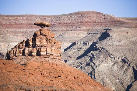 balanced rocks: Mexican Hat Rock - uniquely sombrero-shaped rock