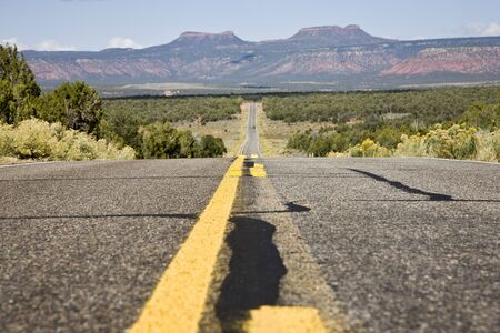 mediaan: Weg door Manti La Sal Bos in Utah, Verenigde Staten