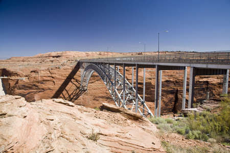 Glen Canyon Dam bridge in Arizona near Page photo