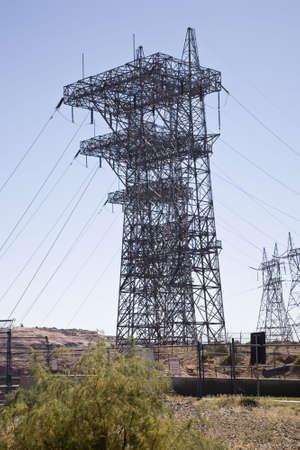 glen: Power pole, Glen Canyon Dam in Arizona, USA