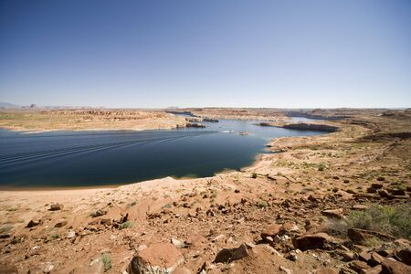 Recreation area Lake Powell near Page in Arizona, USA photo