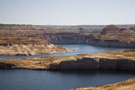 glen: Recreation area Lake Powell near Page in Arizona, USA Stock Photo