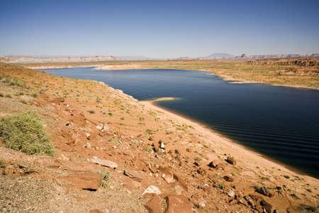 Recreation area Lake Powell near Page in Arizona, USA photo