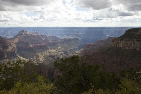 kaibab trail: Grand Canyon (North Rim) - view from North Kaibab Trail Stock Photo