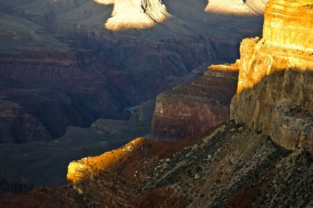 mohave: View from Mohave Point into the Grand Canyon (South Rim) Stock Photo