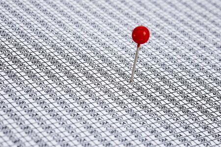 marking up: Ronda pin rojo en un desierto de los n�meros