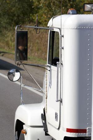 forwarding agency: Truck on Highway Stock Photo