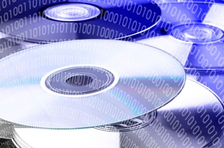 Many multicolored DVD / CD Stock Photo - 3449100