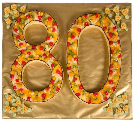 Birthday cake for 80 year old Stock Photo - 3746732