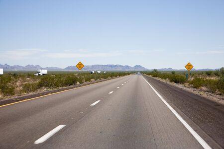 aloneness: Interstate 10 in Arizona, USA Stock Photo