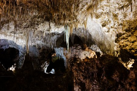 large formation: Carlsbad Caverns National Park in New Mexico, USA Stock Photo