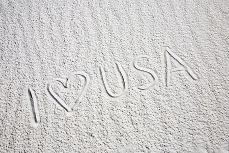 I love USA - White Sands National Monument in New Mexico, USA Stock Photo - 3832562