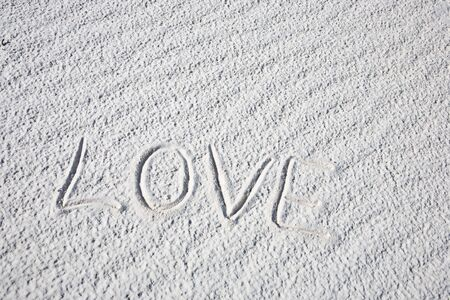 Love shape - White Sands National Monument in New Mexico, USA photo