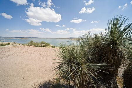 butte: Elephant Butte Lake State Park in New Mexico, USA Stock Photo
