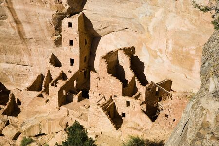 Square Tower House, Mesa Verde National Park in Colorado, USA photo
