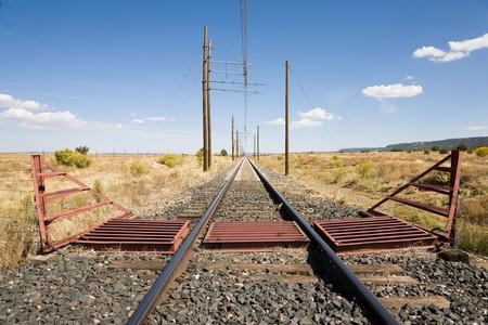 sleepers: Railway line in New Mexico, USA