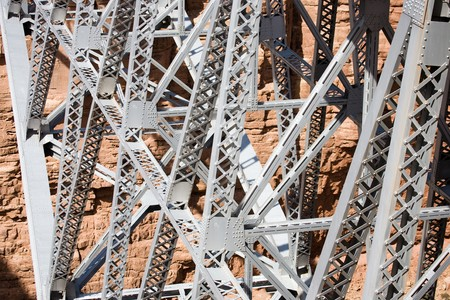 Navajo Bridge - Steel Arch Bridge over the Marble Canyon and the Colorado River in Arizona, USA Stock Photo - 4287068