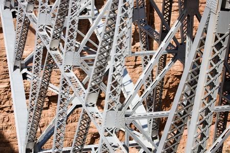 Navajo Bridge - Steel Arch Bridge over the Marble Canyon and the Colorado River in Arizona, USA Stock Photo - 4287068