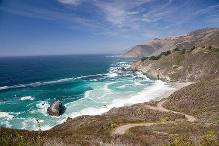 sur: Rocky Coast, Big Sur in California, USA Stock Photo