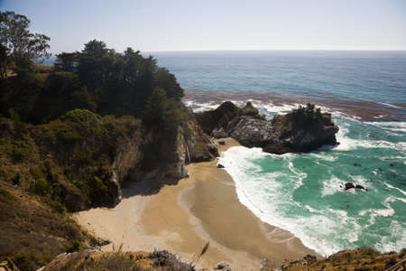 mcway: Julia Pfeiffer Burns State Park, near Big Sur in California, USA Stock Photo