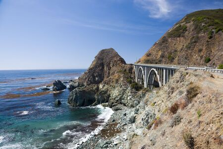 sur: Bixby Creek Arch Bridge, near Big Sur in California, USA Stock Photo