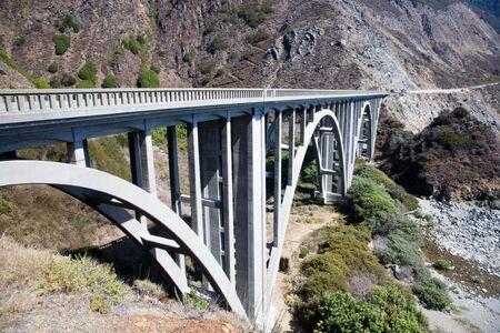 bixby: Bixby Creek Arch Bridge, near Big Sur in California, USA Stock Photo