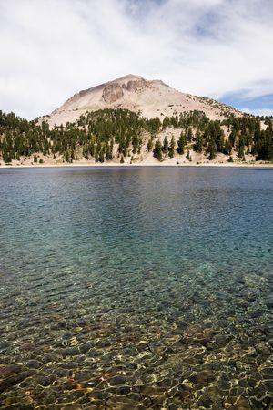 tarn: Lake Helen and Lassen Peak, Lassen Volcanic National Park in California, USA