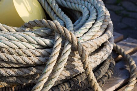 natural fibre rope Stock Photo
