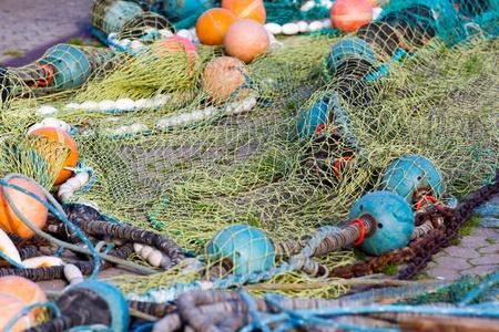 floatable: fishing net in Schleswig Holstein, Germany Stock Photo