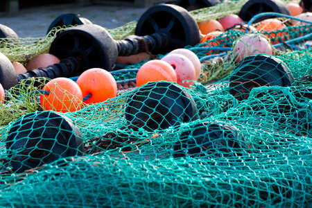 floatable: fishing net in Schleswig Holstein, Germany Stock Photo