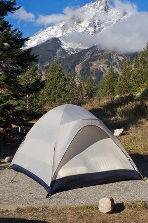 Mountainside campsite