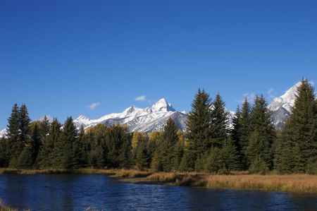 Snake River with Tetons behind