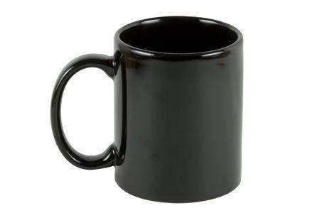 Black coffee mug alpha