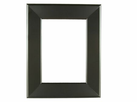 alpha: Black picture frame alpha Stock Photo