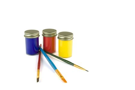 Paint and brushes alpha Stock Photo - 646757
