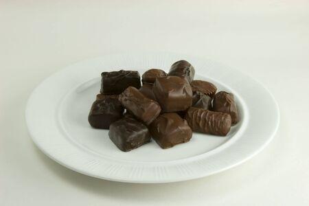 Plate of chocolates alpha