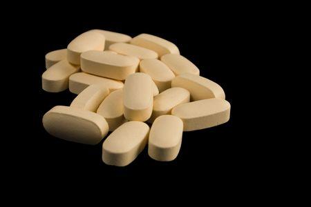 Light yellow pills Stok Fotoğraf